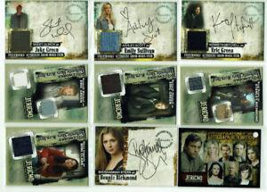 Jericho Season One Inkworks 2007 Autograph Pieceworks Costume Card Selection