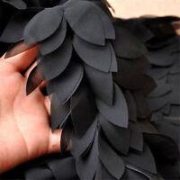 1 Yard Beautiful Handicrafts Chiffon Leaves Lace Trim Tulle Lace DIY Clothing