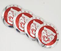 4Pcs 56.5mm Autocenter Logo Rad Kappen Abdeckungen Embleme Aufkleber für Jaguar