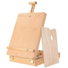 Adjustable Wood Classic Table Sketchbox Easel, Paint Palette, Premium Beechwood