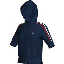 Adidas Olympic Chaleco [Talla 32] Azul Retro Chaqueta Con Capucha Deportiva