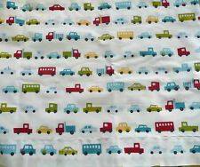 Custom Valance~Oscar cars, Trucks, Buses~  Pottery Barn Kids Fabric 64 by 141/2