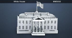 Metal Earth White House 3D metal Model + Tweezer 010329