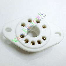 4pc 9pin GOLD plated ceramic tube socket audio accessories RS1003 F3A F2A amp