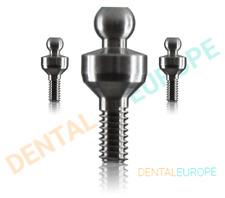 Dental Implant Ball Attachment Kit & Silicone Cap & Titanium Housing 1mm-6mm