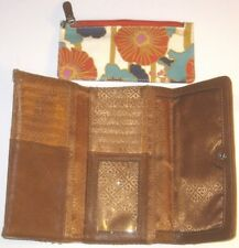 Relic Clutch Wallet Floral Pattern Green Teal Blue Beige Brown White Womens