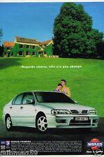 Publicité Advertising 1998 Nissan Primera