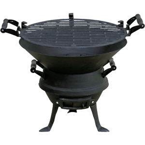 Cast Iron BBQ Barbecue Fire Pit Charcoal Adjustable Grid Air Vents High Quality