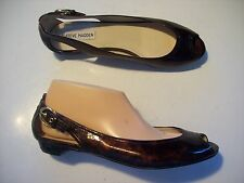 Steve Madden Spair Brown Slip On Low Heels Loafers Shoes Size 8.5 @ cLOSeT
