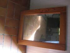 Miroir glace encadrement bois pin taille 50CM X 67CM salle de bain bureau autres
