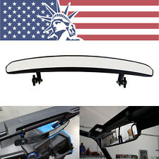 15'' Wide Rear View Race Mirror Convex Mirror with Clamp 4 UTV Dirt Mud Offroad