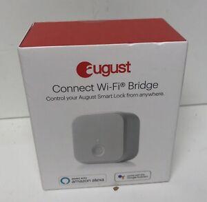 August Connect WiFi Bridge Smart Home Lock Control w/ Alexa, Google, or Siri