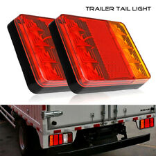 led trailer lights 12V Rear Tail Stop Light Indicator Caravan Van Truck Lorry X2