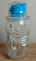 GLASS SNOWMAN JAR