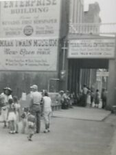 Vintage Black & White Photo Snapshot 1951 Virginia City Nevada Mark Twain Museum