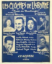 ►PARTITION - LES CLOCHES DE LISBONNE - GLORIA LASSO - ROSSI - GRANDEY - ROSSANO