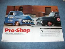 "1952 Ford F-1 1953 F-100 Truck Article ""Pro-Shop"" Patina Hot Rod Shop Trucks"