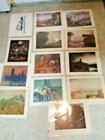 Lot Of 13 Art Prints Unframed 11x14 Matisse Renoir Rembrandt Van Gogh Monet