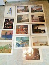 Lot Of 13 Art Prints Unframed 11x14 Matisse Renoir Rembrandt Van Gogh Monet