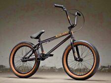 """2019 Kink Curb 20"""" BMX Bike Matte Black Goldschlager Complete BMX Bike"""