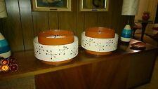 Pair of Mid Century Vintage Style 3 Tier Fiberglass Lamp Shades Starburst BO/ISB