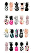 Pineapple Nail art decals! Water Transfer decal!  Pineapples