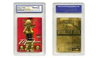 1996 Skybox NBA Hoops JORDAN Starting 5 Bulls RED REFRACTOR Gold Card GEM 10