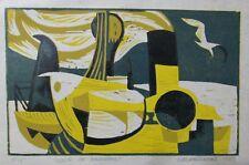 "EDWARD MIECZKOWSKI - Orignal Artwork -1953 Linoleum Cut  #9/15 ""Moon of Ramadan"""