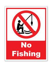 NO FISHING - fishing self adhesive vinyl stickers