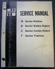 Hyster W-B-C-T Walkies Lift Trucks Factory Dealer Service Manual