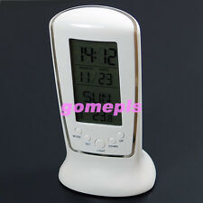 New Digital Backlight LED Display Table Alarm Clock Snooze Thermometer Calendar