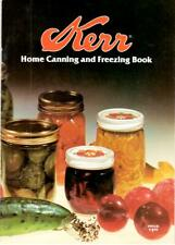 Kerr Home Canning Freezing Book 1981 Kerr Glass Manufacturing Corp Advertising
