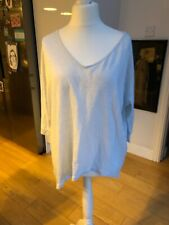 Twisted Muse Pale Blue Oversized Linen Half Sleeve Top Size Small (will Size Up)