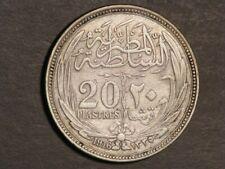 EGYPT 1916 20 Piastres Silver Crown VF
