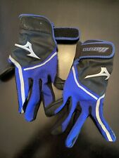 Mizuno Womens Size Large Finch Black & Blue Batting Gloves