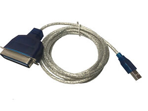 AYA 6Ft. (6 Feet) USB 2.0 to Parallel IEEE 1284 Centronic 36-Pin Printer Cable