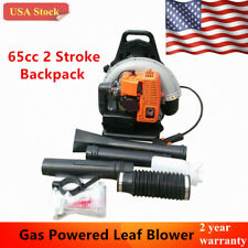 65cc 2 Stroke Gas Powered Leaf Blower Gasoline Backpack Grass Blower Commercial