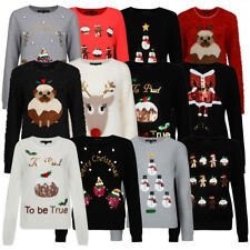 Ladies Christmas Xmas Jumper Collection Crew Neck Xmas Novelty By Heart & Soul