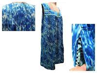 OOAK Women's Plus Size Beautiful Blue Handmade House Dress MuuMuu Lounger