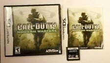 Nintendo DS CALL of DUTY 4 Modern Warfare (2007) Video Game COMPLETE in CASE