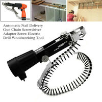 Auto Chain Nail Gun Adapter Screw Head Set for Electric Drill Woodworking Tool