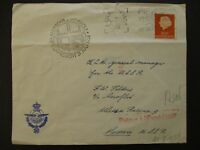 1958 Amsterdam Netherlands to Moscow Soviet Union Airmail First Flight Cover