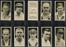 Full Set, Drapkin, Australian & English Test Cricketers 1928 EX (w10k3-162)