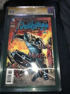 Teen Titans #23.2 Deathstroke #1 3D Variant CGC 9.4 Sig Series George Perez Gold
