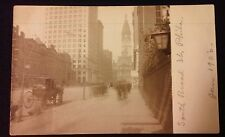 RARE 1906 SOUTH BROAD ST LOOKING NORTH PHILADELPHIA CITY HALL REAL PHOTO RPPC