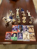 Lot of 9 Starting Lineup Action Figures w/ Cards HOF Bench Ruth Thomas Molitor