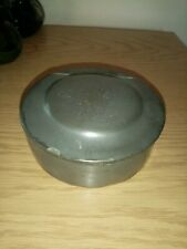 Antique Metal Tin Signed 1854 Military?
