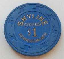 $1 Henderson Skyline Obsolete Casino Chip - VG