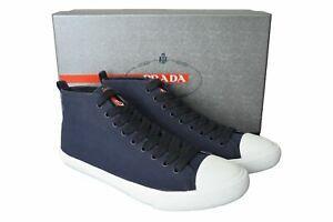 New Authentic PRADA Mens Shoes Sneakers Blue Sz US8 EU41 UK7 4T2583