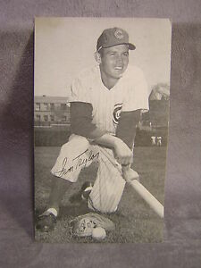 Sam Taylor Chicago Cubs Autographed Postcard